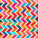 Vector Seamless Colorful ZigZag Line Bright Polygons Pattern