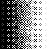 Raster Seamless Black and White Truchet Halftone Gradient Pattern