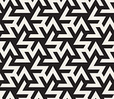 Vector Seamless Black And White  Geometric Triangle ZigZag Shape Islamic Pattern
