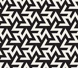 Vector Seamless Black And White  Geometric Triangle ZigZag Shape Islamic Pattern