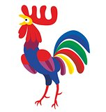 Rooster vector new year 2017 symbol
