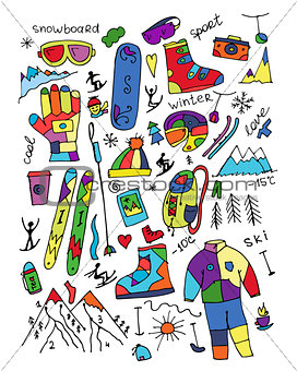 Skiing collection, sketch for your design