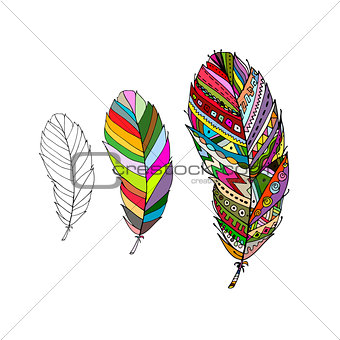Art feather for your design