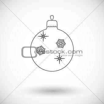 Christmas ball flat icon
