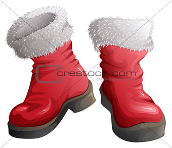 Red shoes Santa Claus. Christmas Clothing Accessories