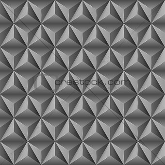 Abstract background with black pyramids.