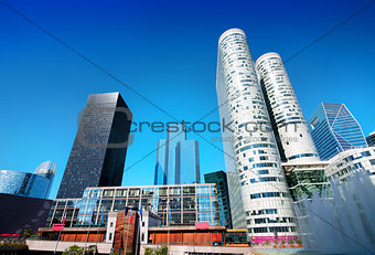 Modern skyscrapers in Paris