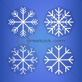 Bright background with snowflake . Eps 10 vector illustration