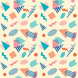 Seamless retro geometric pattern background