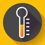 Thermometer icon, temperature symbol vector. Flat designed style.