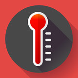Thermometer icon, High temperature symbol vector. Flat designed style.