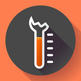 Broken Thermometer icon, temperature symbol vector. Flat designed style.