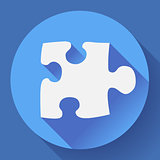 Puzzle icon. Flat vector design style.