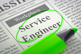 We are Hiring Service Engineer. 3D.