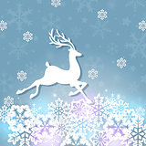White paper deer and snowflakes