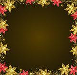 Shining floral frame