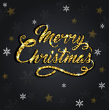 Glitter Christmas greeting inscription
