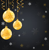 Golden decorations on a black background