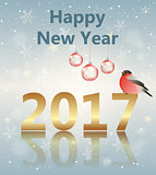 Greeting card for new year.