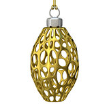 Gold Christmas ornament. 3D
