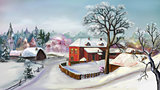 Rural Landscape in Winter Day