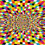 Multicolor kaleidoscope background with optical effect