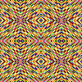 Multicolor kaleidoscope seamless background with optical effect