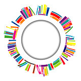Round frame with books