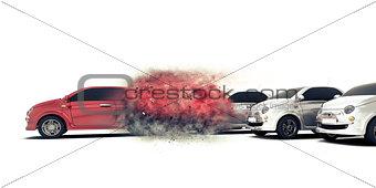 3D speeding car concept