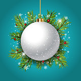 Decorative Christmas bauble background