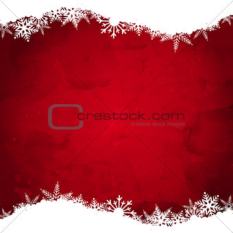 Grunge Christmas snowflake background