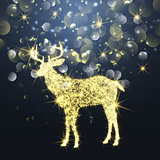 Sparkle Christmas deer