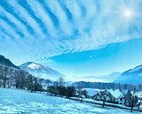 Winter mountain sunshiny village (Austria).