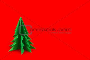 Green fir of origami