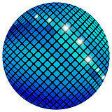Blue mosaic ball