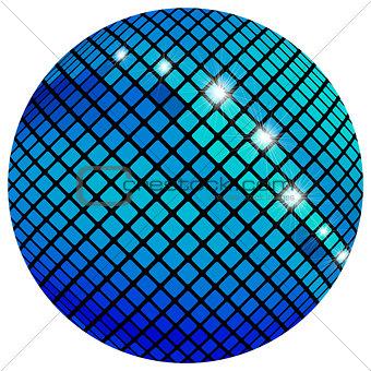 Blue mosaic ball