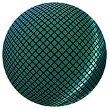 Green mosaic ball
