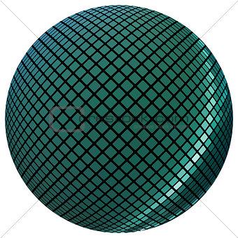 Green mosaic ball