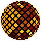 Orange mosaic ball