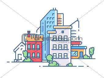 City color apartment house