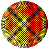 Yellow-orange mosaic ball