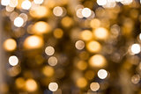 blurred golden christmas lights bokeh