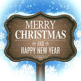 Christmas and New Year Signboard
