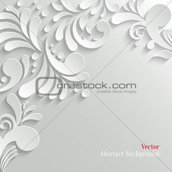 Abstract Floral 3d Background