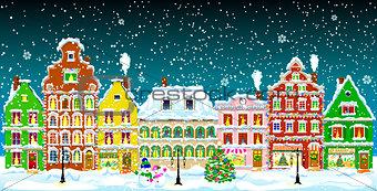City on Christmas night