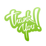 Thank You lettering Sticker