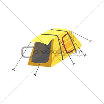 Small Yellow Bright Color Tarpaulin Tent