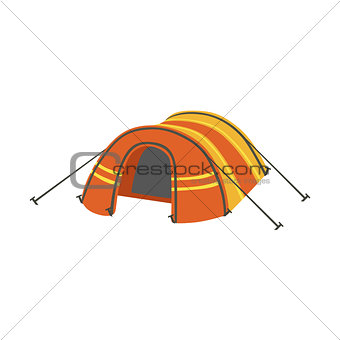 Arched Orange Bright Color Tarpaulin Tent