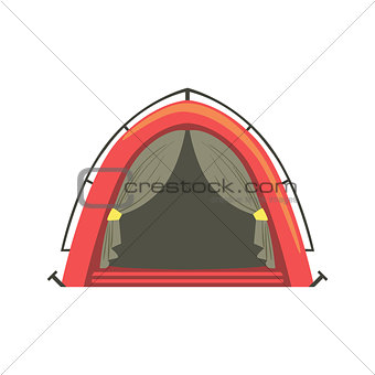 Small Red Bright Color Tarpaulin Tent