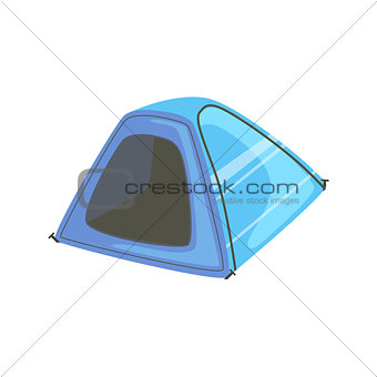 Small Blue Bright Color Tarpaulin Tent